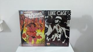 Hq - Mulher Maravilha Força + Luke Cage Noir Novo E Lacrado