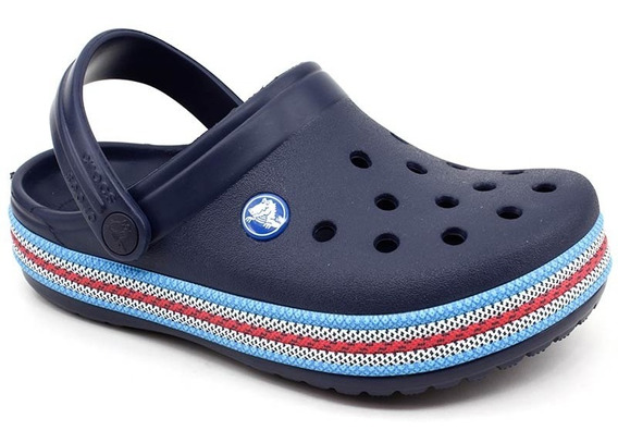 Clog Crocs Infantil Crocband Sport Cord Azul Marinho