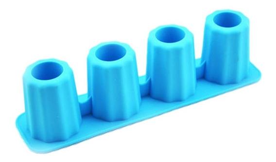 Forma De Gelo Cups Ice Shot Silicone Formato Copo