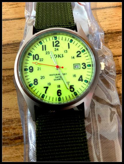 Relógio C/pulseira Em Naylon Analógico Esportivo