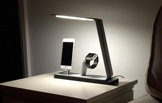 Dock Apple Watch iPhone 6 7 8 X Xs Xr Xs Max Luminaria Led Carregador Mais Bateria Portátil Bluetooth