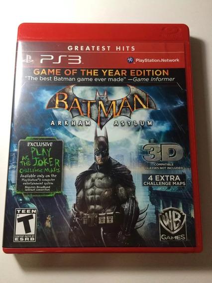 Batman Arkham Asylum Original Ps3 Mídia Física