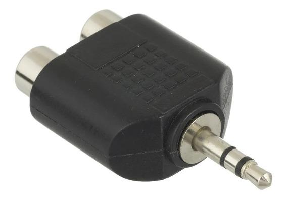 Kit 10 Adaptador P2 Stereo X 2 Rca Femea
