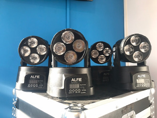 4 Cabezales Moviles Alfie Mini Beam Led Osram 4x10watts