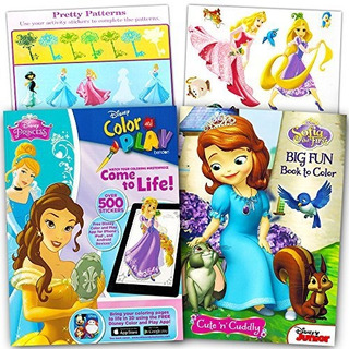 Conjunto De Pegatinas Y Libros Para Colorear Disney Princess