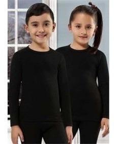 2 Calça Peluciada Térmica+2 Blusa Peluciada Térmica Infantil Juvenil Criança Peluciado Térmica