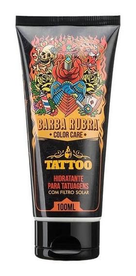 Kit 4 Unid Creme Hidratante Para Tatuagens - Barba Rubra