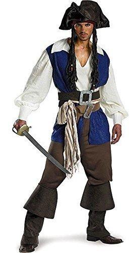 Piratas Del Caribe Jack Sparrow Costume Adult Plus