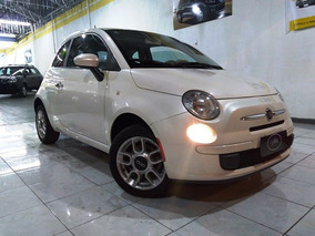 Fiat 500 1.4 Cult Flex 2013 Branco Com Interior Bicolor