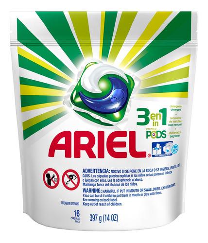 Ariel Power Pods Lava Roupas Em Cápsula 16 Pods Importado