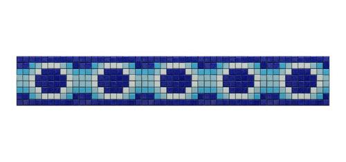 Imagen 1 de 1 de Cenefa En Mosaico Veneciano Rombos (2) Metro Lineal