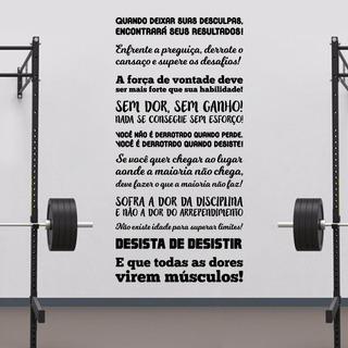Adesivos Frases Academia No Mercado Livre Brasil