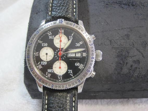 Longines Lindbergh, Automatico, Crono, Caixa E Manual, 42mm
