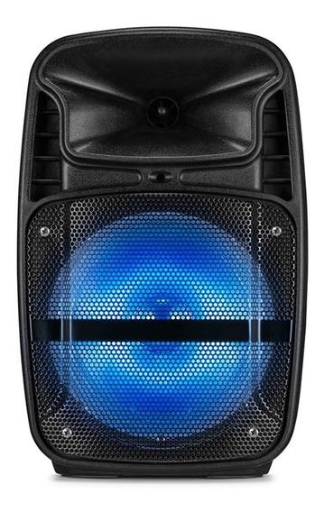 Caixa Ativa Sp293 Bluetooth 80w Rms Bateria Rádio Fm Microsd