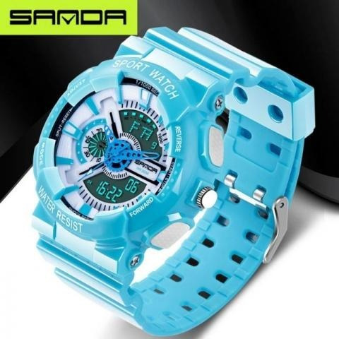 Relógio Esportivo G Estilo Luxo Analógico Quartz Digital