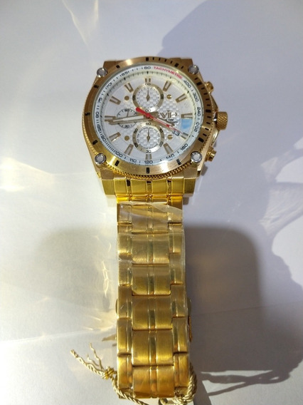 Relógio Vip Mh-8317 Durado Fundo Branco Presente Promoção