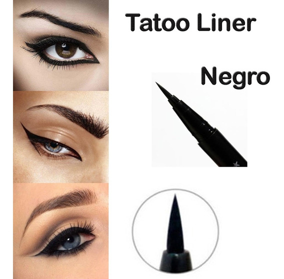 Delineador Para Ojos Fibra Tatoo Liner Waterproof Negro #1