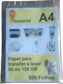 Papel Tranfer Laser 500 Folhas A4 90 Ou 120 Gramas.