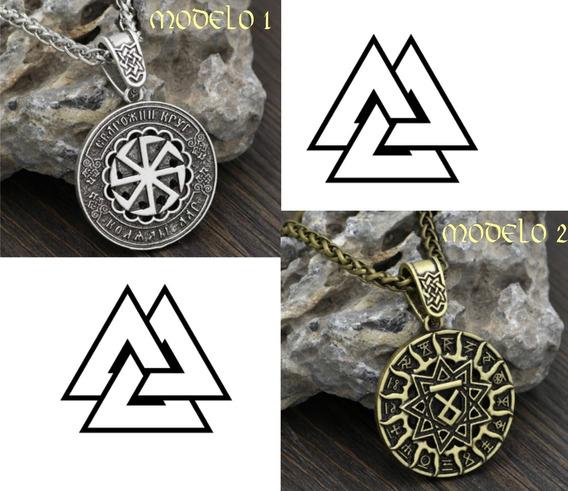 Colar Runas - Othala Eslava - Amuleto Pagan Norse - Metal