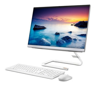 Desktop Lenovo I3 8gb 1tb Ideacentre A340 21.5 Aio (white)
