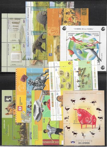 Argentina Lote De 9 Hb Hojitas Block Mint $ Oferta $