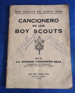 Libro Cancionero De Boy Scouts De Costa Rica De 1949