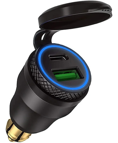 Adaptador 12v Din Hella Usb C Bmw Ducati Rapido Qc 3.0 30w