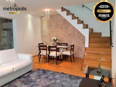 Sobrado Com 3 Dormitórios À Venda, 169 M² Por R$ 555.000 - Vila Camilópolis - Santo André/sp - So0355