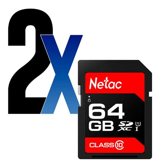 Cartão Memória 64gb Sdhc 100mb/s Netac 2un