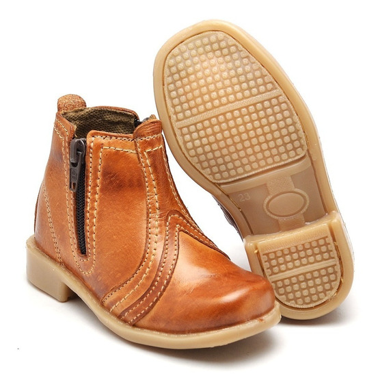 Bota Country Infantil Texana Masculina Couro Legitimo Infant
