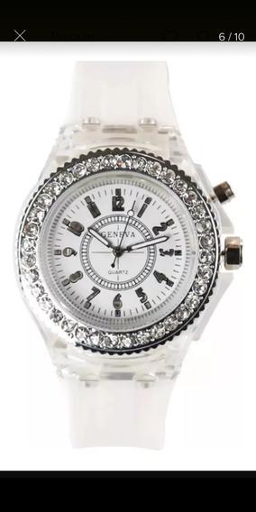 Relógio Geneva De Led