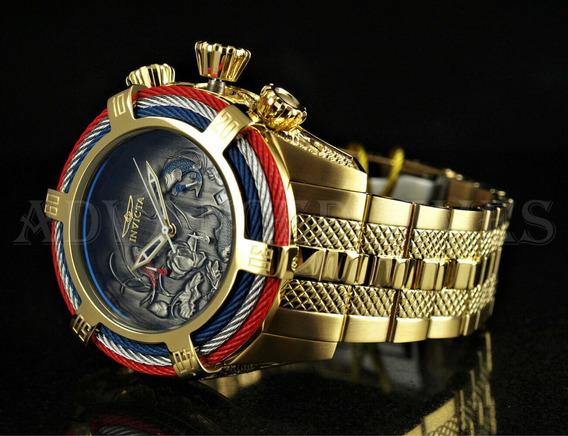 Relógio Invicta Bolt 28202 Banhado À Ouro - Garantia 1 Ano