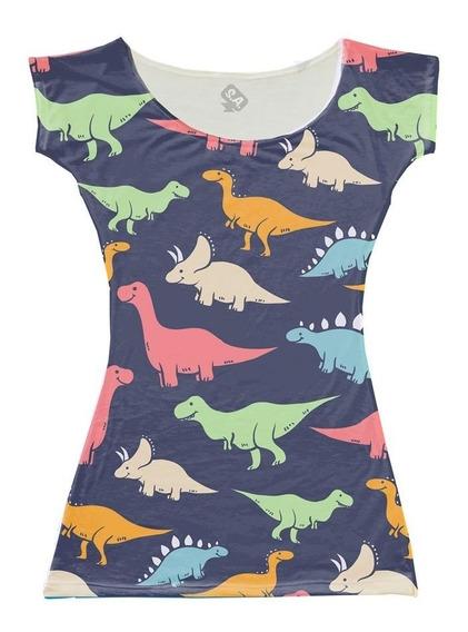 Vestido Para Aniversário Dinossauros Coloridos