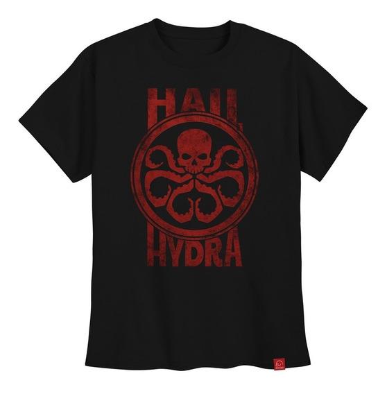 Camiseta Hail Hydra Capitão América Camisa Ultra Skull