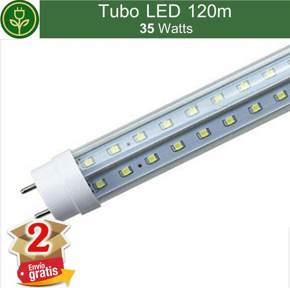 (2 Piezas) Tubo Led 120cm 4ft 35w V Shape Doble Tira