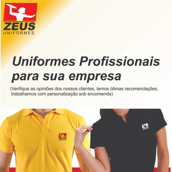 14 Camisas Polo Uniforme Profissional Bordado Logomarca