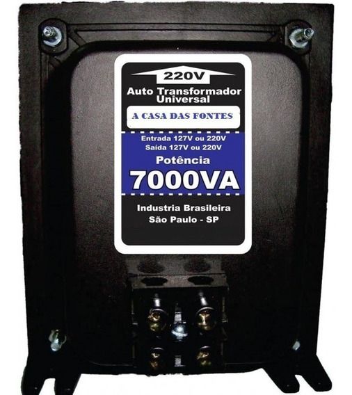 Transformador 7000va 110 220 Ou 220 110