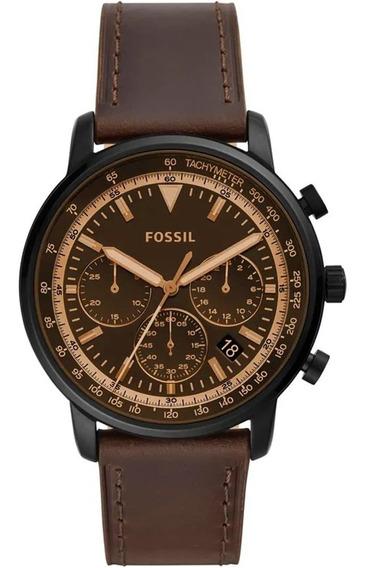 Relógio Masculino Fossil Couro Marrom Fs5529/0mn Original Nf
