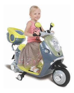 Scooter Moto Montable Electrica Mini Cooper Con Luz Y Claxon