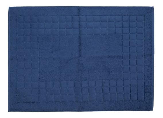 Toalha De Piso Azul Escuro Teka Felpuda Duomo 50x70cm