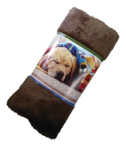 Manta Cobertor Soft Para Pet Cachorro E Gato Marrom