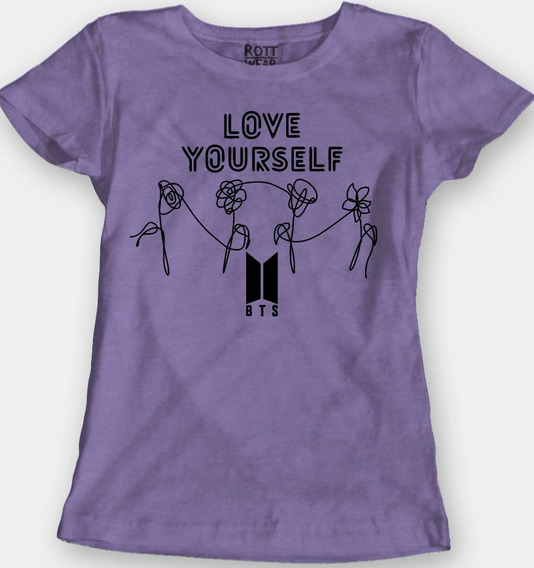Bts Kpop Love Yourself Blusa Dama M Rott Wear Envío Gratis