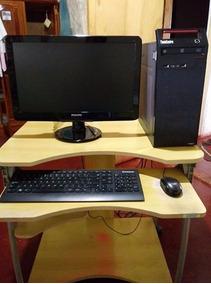 Computador Completo Com Teclado, Mouse, Monitor E Mesinha