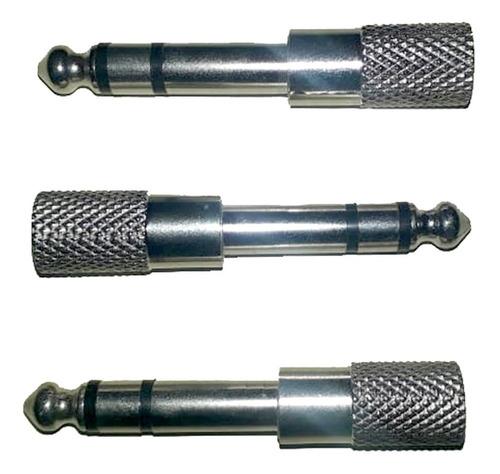 Imagem 1 de 4 de 3 Adaptador P2 X P10 Stereo De Metal