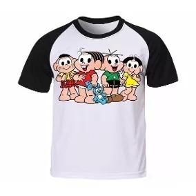 Camisa Camiseta Raglan Turma Da Monica Revista Geek Dark