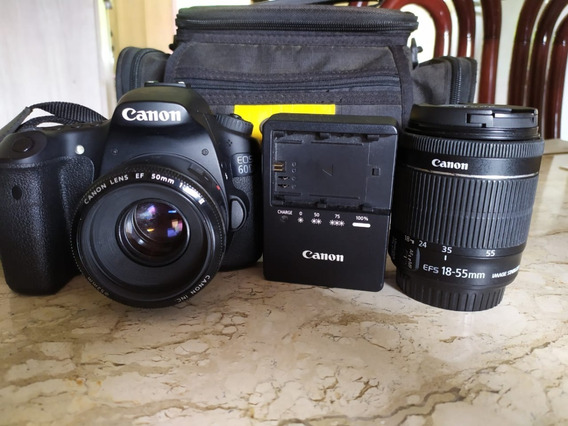 Câmera Canon 60d + Lente 18-55mm + Lente 50mm 1.8