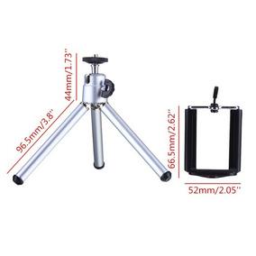 Mini Tripé Alumínio Universal P Câmera Digital Celular Gopro