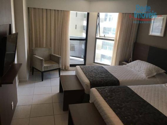Apartamento Com 1 Dormitório Para Alugar, 42 M² Por R$ 3.000,00/mês - Boa Viagem - Recife/pe - Ap10055