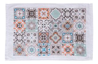 1 Toalla O Secador Para Cocina Diseño De Azulejos + 1 Paño De Microfibra + De Regalo Bolsa Funda Para Celular, Mp3, Mp4