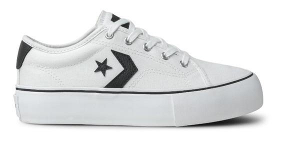 Tênis Converse Star Replay Platform Ox Branco/preto